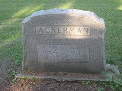Clara <I>Hildebrand</I> Ackerman