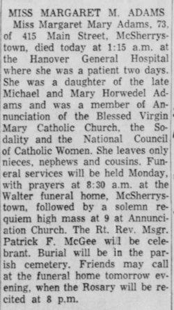 Margaret Mary Adams