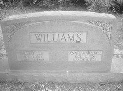 Annie <I>Marshall</I> Williams