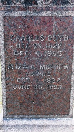 Eliza A <I>Morrow</I> Boyd