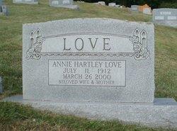 Annie <I>Hartley</I> Love
