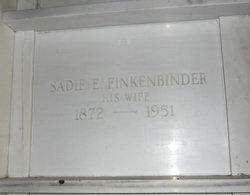Sadie E <I>Reiber</I> Finkenbinder