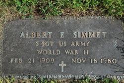 Albert E Simmet