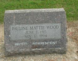 Pauline Mattie <I>Crowford</I> Wood