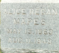 Alice <I>Regan</I> Mapes