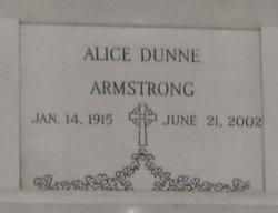 Alice <I>Dunne</I> Armstrong