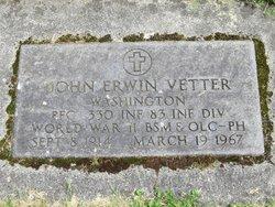 John Erwin Vetter