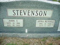 Anna <I>Russell</I> Stevenson