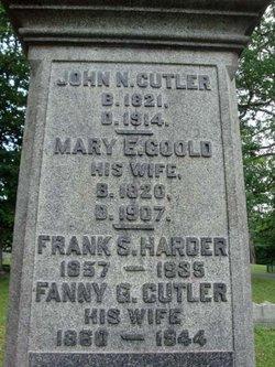 Fanny G <I>Cutler</I> Harder