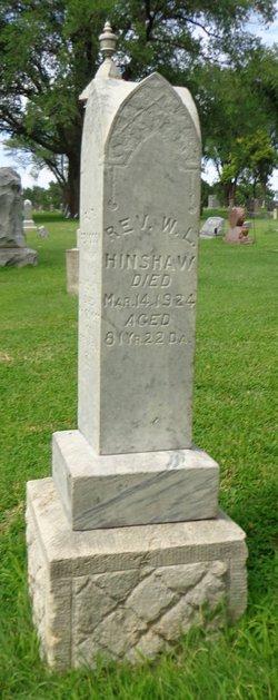 Rev William Lawrence Hinshaw