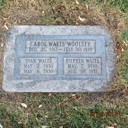 Carol May <I>Watts</I> Woolsey