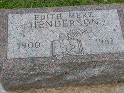 Edith G. <I>Merz</I> Henderson