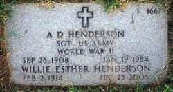 Willie Esther <I>Lee</I> Henderson