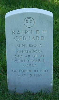 Ralph E H Gebhard