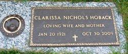 "Clarissa Alma ""Peggy"" <I>Nichols</I> Hoback"