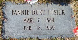 Fannie H. <I>Duke</I> Hester