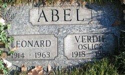 Verdie Lorraine <I>Mayer</I> Abel-Oslick