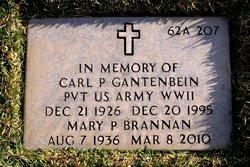 Pvt Carl Paul Gantenbein