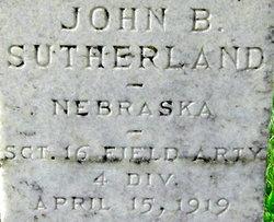 "SGT John B. ""Jack"" Sutherland"