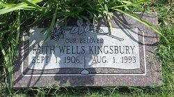 Ruth W <I>Wells</I> Kingsbury