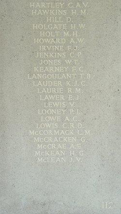 Sergeant Allan Edwin McCrae
