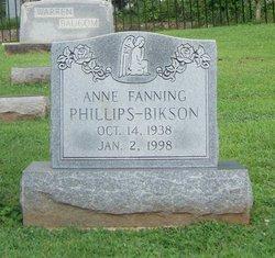 Anne Fanning <I>Phillips</I> Bikson