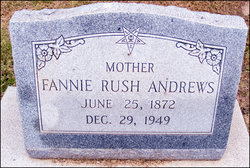 Fannie Rush <I>Medlin</I> Andrews