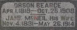 Jane <I>McNeil</I> Bearce