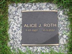 Alice Jean <I>Rowley</I> Roth