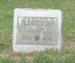 """Matilda """"Tillie"""" <I>Coller</I> Evans"""