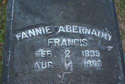 """Frances Elizabeth """"Fannie"""" <I>Abernathy</I> Francis"""