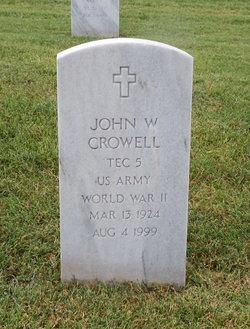 John W Crowell