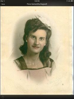Mrs Flora Samantha <I>Bagwell</I> Roach