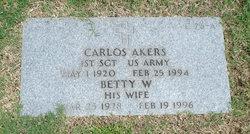 Betty W Akers
