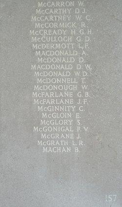 Sergeant Derrick William Macdonald