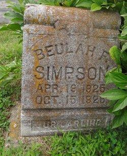 Beulah Francis Simpson