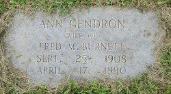 Ann <I>Gendron</I> Burnett