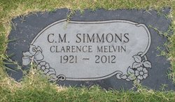 """Clarence Melvin """"C.M."""" Simmons"""