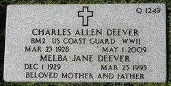 Melba Jane <I>White</I> Deever