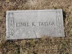 Ethel Emma <I>Kinkler</I> Taylor