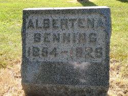 """Albertena """"Tena"""" <I>Gast</I> Benning"""