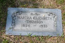 Martha Elizabeth <I>Goyen</I> Thomson