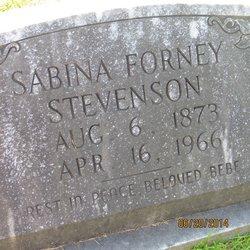Sabina Hoke <I>Forney</I> Stevenson