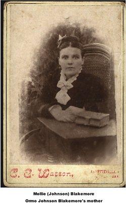 """Mary L. """"Mollie"""" <I>Johnson</I> Blakemore"""