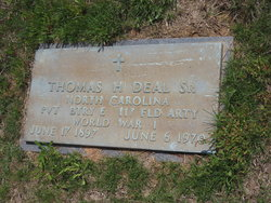 Thomas Hobart Deal, Sr