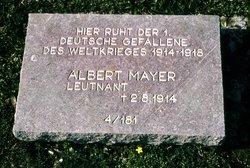 Lieut Albert Otto Walter Mayer