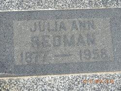 Julia Ann <I>Hancock</I> Redman