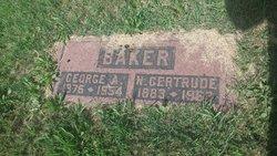 "Nina Gertrude ""Gertie"" <I>Houston</I> Baker"
