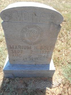 "Marium Henrietta ""Mary"" <I>Clower</I> Bolt"