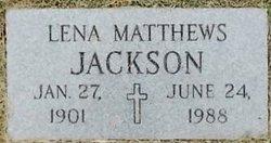 Lena Frances <I>Matthews</I> Jackson
